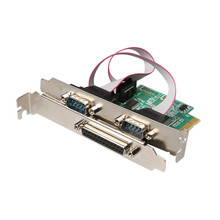 PCI express 2 Serial and 1 parallel port Card RS232 Printer port PCIe PCI-e Card chipest WCH wholesale