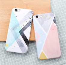 New Fashion Simple Geometric Splice Grid Pattern Funda Capa Rubber TPU Mobile Phone font b Cases