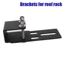 Portable Universal Brackets for Roof Rack Crossbar Luggage-rack Top Windshield Mounting Brackets for Led Light Bar and Led Work