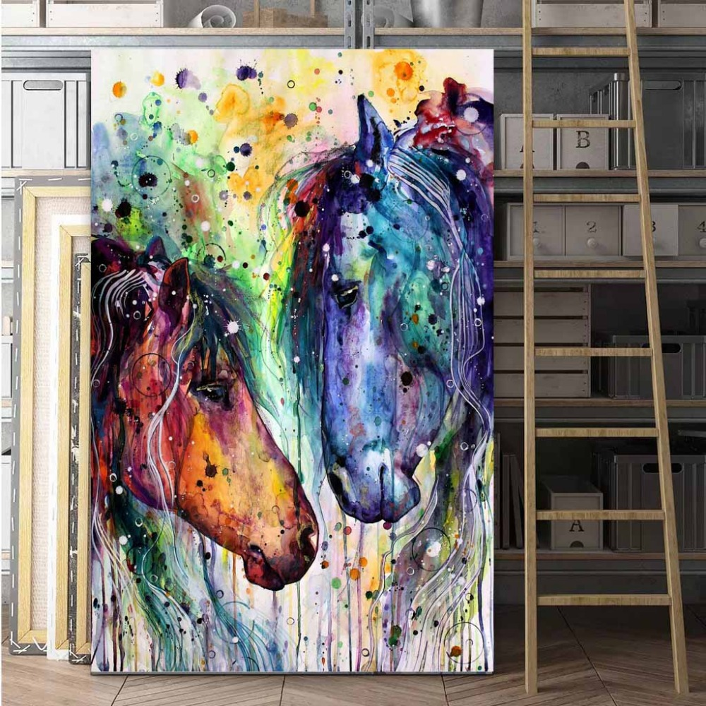 horse-in-acrylics-for-beginners-speed-modern-art-paintings-colorful-palette-knife-and-modern-Beautiful-Horse-Abstract-Paintings-art-paintings-colorful-palette