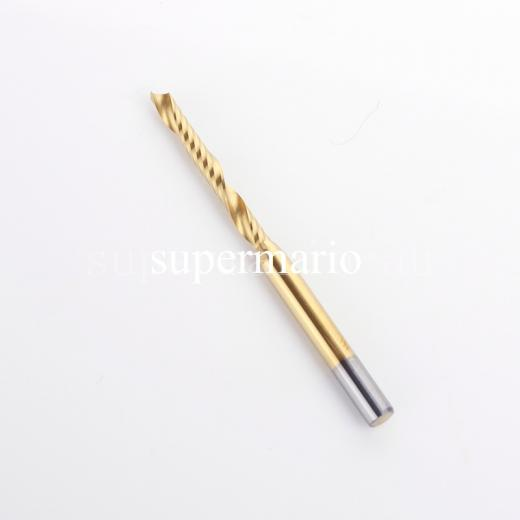 NEW 1x 1/8 3.175mm Titanium N2 Coated Carbide One Single Flute Milling Cutter CNC Router Bit 2.5mm x22mm (1LX3.2.522-Tix1pc)<br><br>Aliexpress
