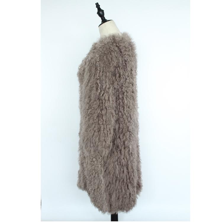 women natural lamb sheep fur coat (3)