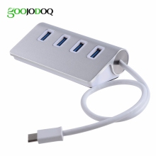 GOOJODOQ Aluminum Alloy Type C USB 3.1 Hub to USB 3.0 Adapter for Apple New Macbook Laptop PC Google ChromeBook