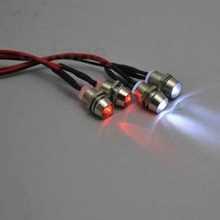 4pcs RC Model Drift Car LED Night 5mm & 3mm headlamps headlights LED Light LED For RC Car(China)