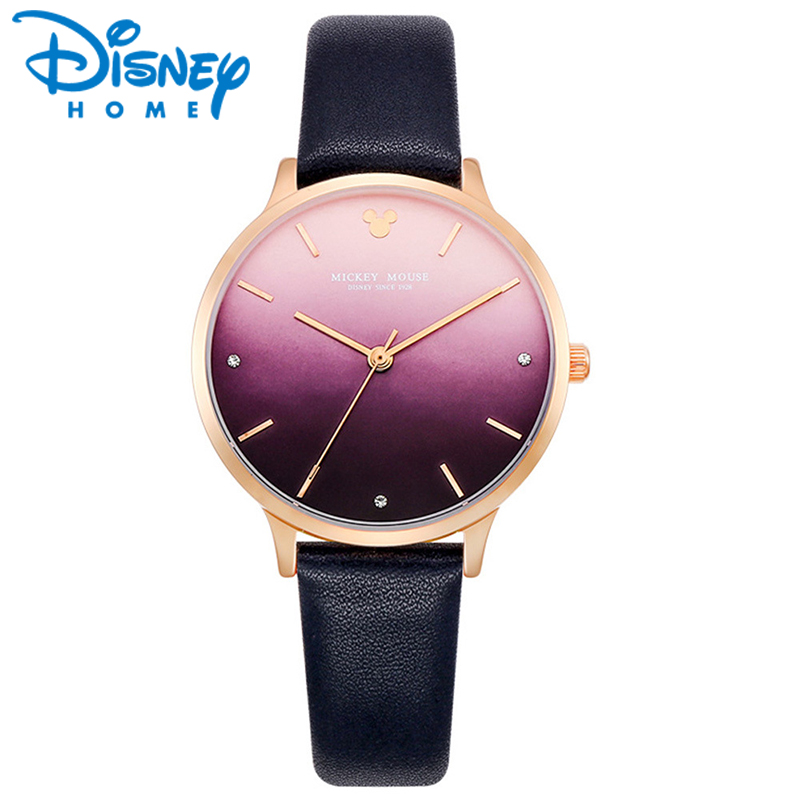 Disney Watch womens Purple Gradient Dial Romantic Lover Watch 2018 New Design Japan Quart Movt 30M Waterproof Clock MK-11187<br>