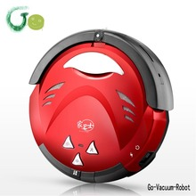 Household intelligent automatic charging red ultrathin electric wet ansd dry sweeping robot vacuum cleaner 618F