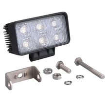 New 60 Degree 18W 6 LED 1320LM Work Light Lamp Bar Flood Beam Motorcycle Car Tractor Truck Bright 12v 24v
