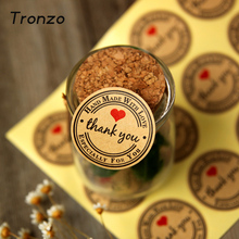 Tronzo Thank You Wedding Decoration Candy Box Decor Stickers 60pcs/set Vintage Love Heart Wedding Favors and Gifts(China)