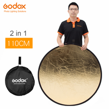 "Godox 43"" 110cm 2 in 1 Gold and Silver photography reflector Board Collapsible Gold and Silver for Studio photography reflector(China)"