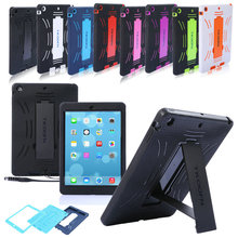 For Apple ipad Air Case Heavy Duty Shockproof Rubber Stand Cover Case For iPad 5 8 Colors