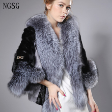 Buy NGSG 2017 Women Short Real Mink Coat Silver Fox Fur Collar Clothes Fashion Luxury Fur Collar Lady Winter Mink Jacket FQ13020-13 for $869.39 in AliExpress store