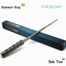 10 pcs/lot Sub Two e cigarette accessory coil jig stainless steel coil tool 3.5/3/2.5/2/1.5 mm Diameter coil