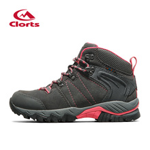 Clorts Women Hiking Shoes Waterproof Hiking Boots Outdoor Mountain Boots Lady Suede Leather Climbing Shoes HKM-822B/C/D/E/F(China)