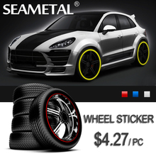 Car-Styling 4 Meters Car Styling Wheels Stickers Sticker 3D Rim Guard Bumper Rub Scratchproof Tire External Decoration Protector