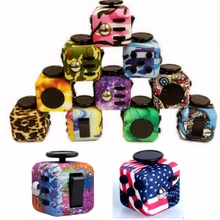 12pcs/set Camouflage Scrub Fidget Cube Toys 2017 New Colourful Magic Cubes Mini Stress Anxiety Reliever Fidget Toy Gift For Kids