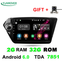 2G+32G 2 Din Car dvd gps Android 6.0 9 inch For Kia Rio K2 2012 2013 2015 2016 Car Radio Navigation player multimedia stereo RDS(China)
