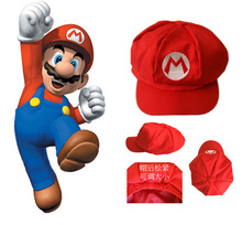 Free shipping Super Mario Bros Anime Cosplay Red Cap Tag Super cotton hat Super mario hats Luigi hat 5 colors