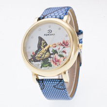 Fabulous hot sale luxury fashion faux-leather variety color simulated quartz watch Brand factory prices For Reloj Relogio W098