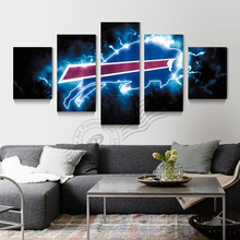 5 Panel Buffalo Bills Sport Logo Wall Painting Canvas Art Home Decor Wall Picture For Bed Room Modern Print Unframd BR0180