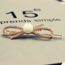 2017 New Fashion Women Ladies Popular Crystal Hairpin Pearl Hair Pin Hair Clips High Quality Hair Accessories Headwear Girl