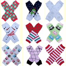 Owl Argyle Stripe Snowflakes Leg Warmers New Year Christmas Holiday girls legwarmers baby knee pads 18pairs/lot