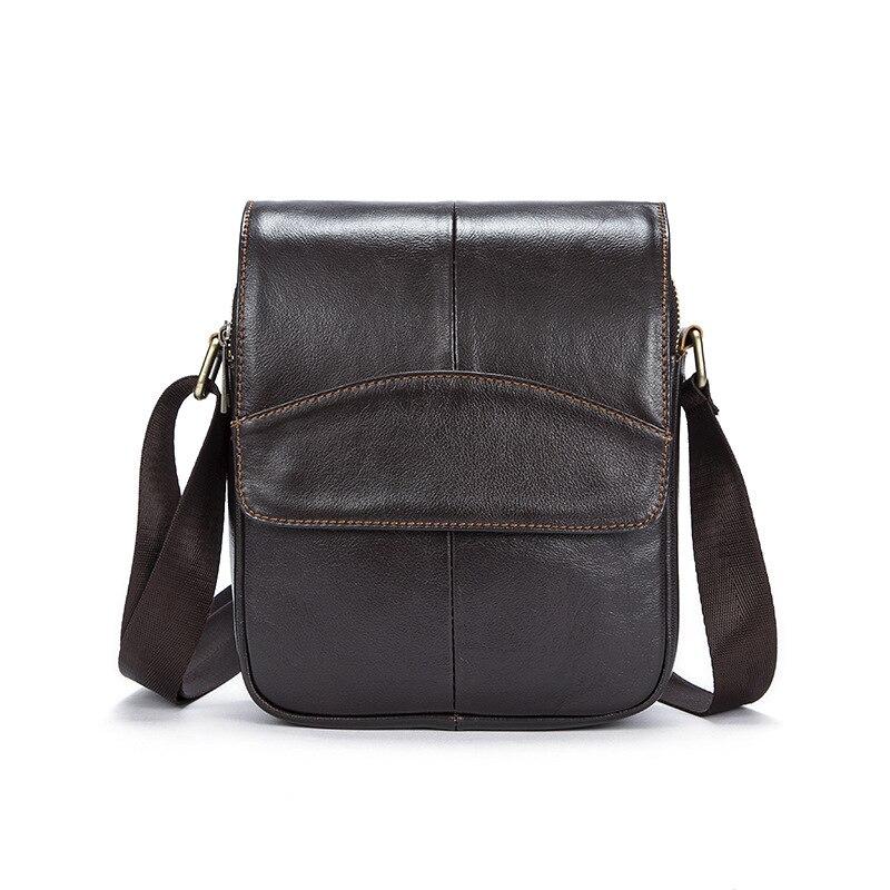 Vintage High Quality Natural Genuine Leather Men Messenger Bags <br>