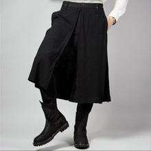 27-44! Men's clothing autumn and winter trousers culottes personality casual trousers skirt pant Men Shows culottes men pants !