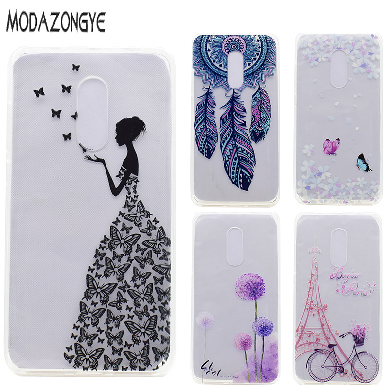 Lenovo K6 Note Case 5.5 Inch 3D Flower Soft TPU Phone Case Lenovo Vibe K6 Note Case Silicone Protective Back Cover Skin