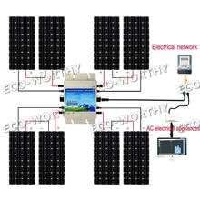 1200W System:8x160W Mono Solar Panel Panneaux Solaires with 230V Waterproof Inverter(China)