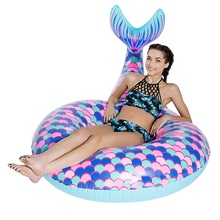 2017 New Hot Inflatable Mermaid Float Flamingo Swimming Float Pool Float Swan Tube Raft Kid Swimming Ring Summer Water Toy