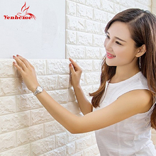 3D Wall Sticker Living Room TV Background Waterproof Form DIY Kitchen Decor Wall Decals Self adhesive Wallpaper For Kids Room(China)