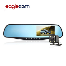 Dual camera Rear view Mirror Car DVR Camera Dashcam Full HD 1080P Video Registrator Recorder dash cam car-detector black box(China)