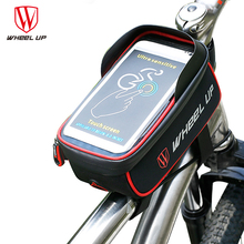 Hurricane WHEEL UP BICYCLE BAGS CYCLING BIKE FRAME IPHONE BAGS HOLDER PANNIER MOBILE PHONE BAG CASE POUCH Cycling Accessories