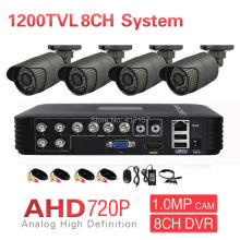 Home CCTV AHD 720P 4CH Security Camera System 8CH DVR 1200TVL Outdoor Day Night IR DIY Surveillance Kit P2P PC Phone Mobile View