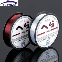 DNDYUJU New Style 100m Sea Fishing Lin Wear Resisting Lure Nylon Fishing Line Wine Red Transparent for Sea Fishing Lure Fishing
