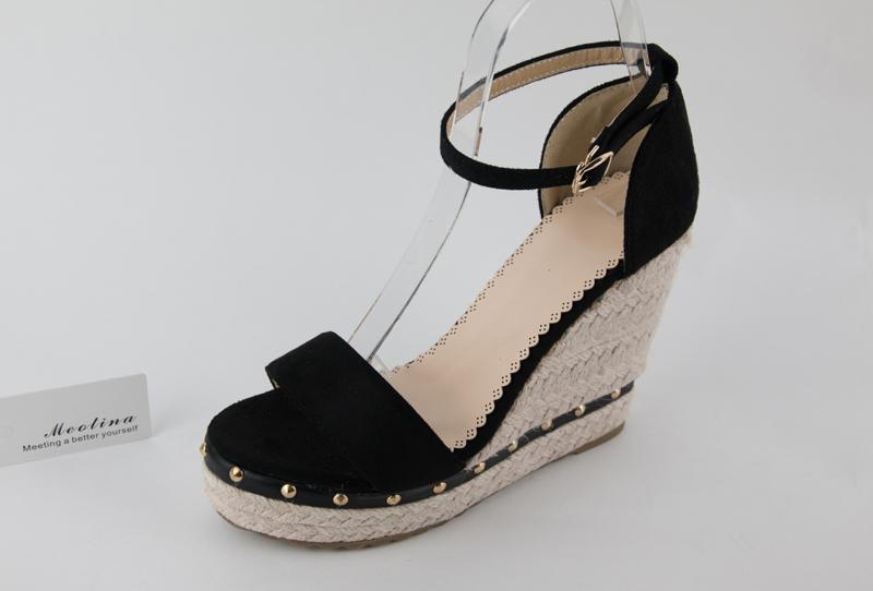 Women's Sandals, Platform Sandals, High Heels Shoes, Ankle Strap, Ladies Sandals Rivet Casual Footwear 14