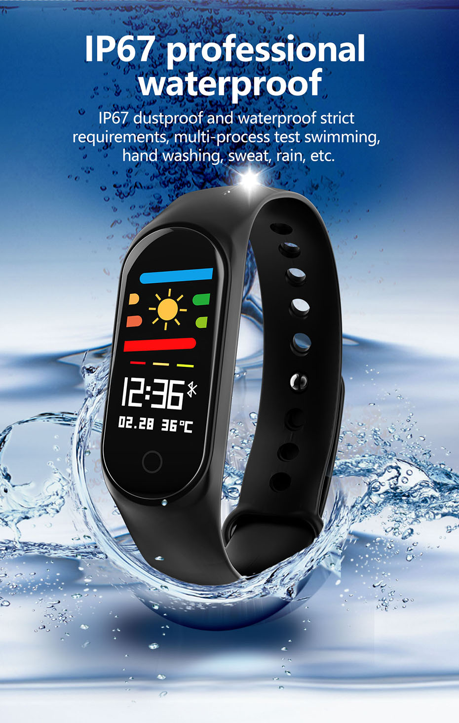 COLMI M3S Smart Bracelet Color-screen Fitness Tracker blood pressure Heart Rate Monitor sleep tracker Wristband For Android IOS 10