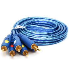 Jinchi Three Of  The Three Audio And Video Cable Set-top Box RCA Connecting Line Six Line Three Lotus AV  For Cable AC03