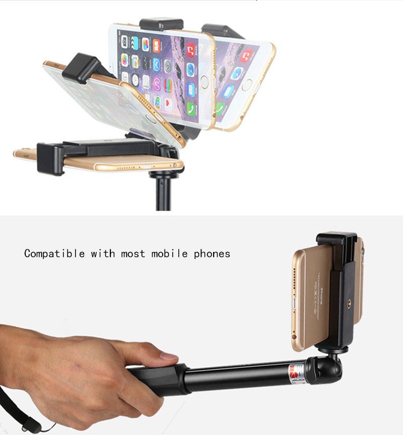 Universal Phone Clip For iPhone 6S 7 Plus Samsung Xiaomi Selfie Tripod Monopod Stand Mount Holder Adapter Smartphone Accessories