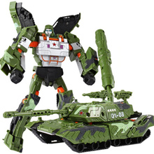 Cool Transformation Tank Military Toys Action Figures Armored Car Robot Plastic ABS Movie 4 Anime Classic Toys Boy Gifts(China)