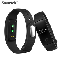 Smartch V05C Smart Wristband Fitness Tracker Vibration Alarm Pedometer Heart Rate Monitor Bracelet Bluetooth 4.0 Smart Band(China)