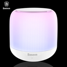 Baseus LED Bluetooth Speaker Portable Mini Wireless Speakers V4.2 Stereo Hands Free Subwoofer Loudspeaker With TF Card Audio USB(China)