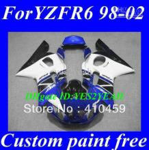 Free shipping fairing for YAMAHA YZFR6 1998 1999 2000 2001 2002 YZF R6 YZF-R6 YZF600 98 99 00 01 02 blue white blk fairings kit+