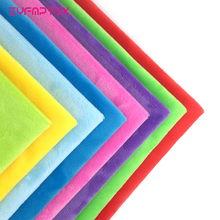 ZYFMPTEX 8pcs 45x50cm Exceed Soft Polyester Plush fabric DIY Toys Blanket Clothing In Material Patchwork Cloth Warm Fabric(China)