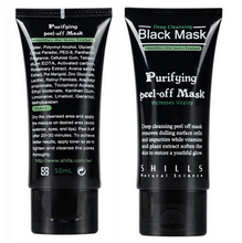 Shills Black mask Tearing style Deep Purifying peel-off face mask  Acne remover blackheads-eliminating black  masks 50g