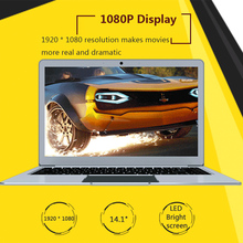 "TBOOK 4 14.1"" 1080P FHD 6GB DDR3L 64GB EMMC NGFF M.2 2242 SSD Slot Ultrathin Light Laptop Notebook PC For Intel Quad Core N3450(China)"