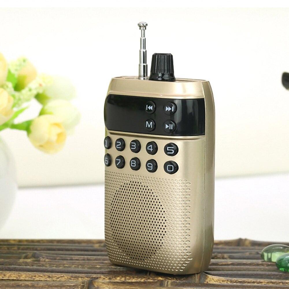 E2948-mini FM radio-gold