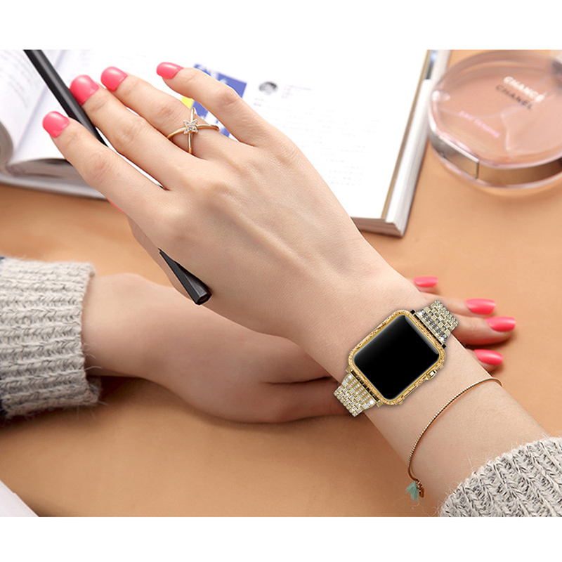 luxury metal watch case for apple Housing cover watch shell 38-42mm (14)