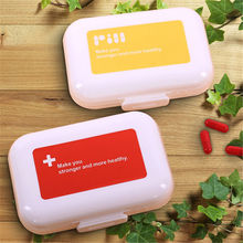 Portabe 8 Compartments Red Moistureproof Pill Cases Pill Organizer Medicine Box Drugs Pill Container Multilayer Weekly(China)