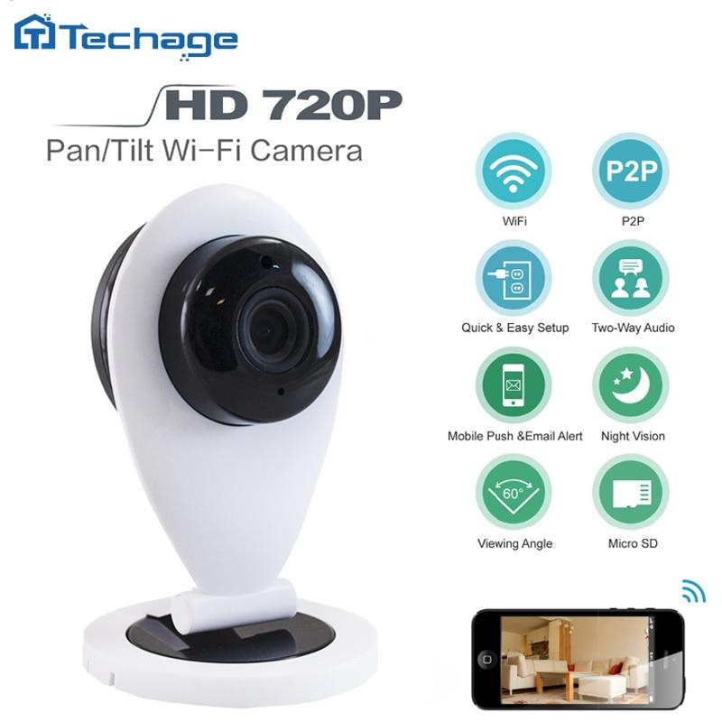 Techage Mini Wireless Wifi  HD 720P Smart IP Camera P2P Baby Monitor CCTV Security Network Camera Night Vision Mobile Remote Cam<br><br>Aliexpress